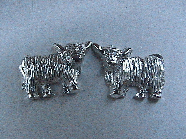 Sterling Silver Highland Cow Earrings D54OUUP7o